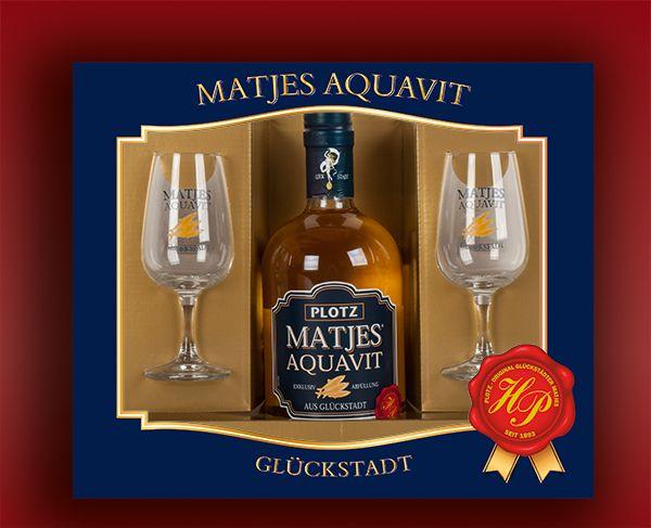 Plotz Matjes Aquavit Geschenkkarton