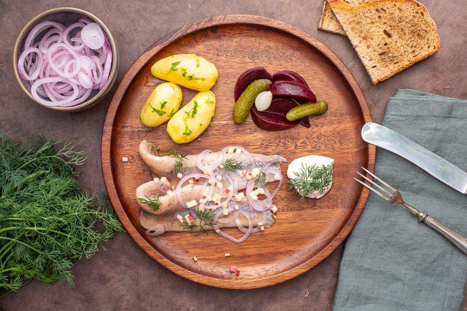 So sieht das fertige Gericht Matjes nach Hausfrauenart von Thomas Sixt aus