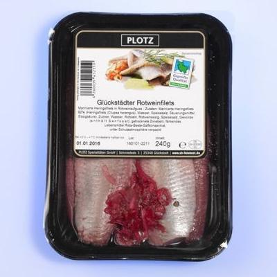 Rotweinfilets Verpackung