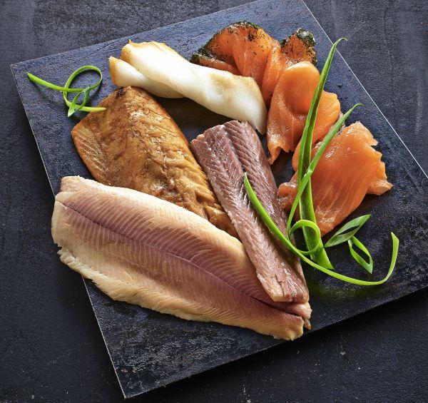 Edelfisch-Räucherplatte