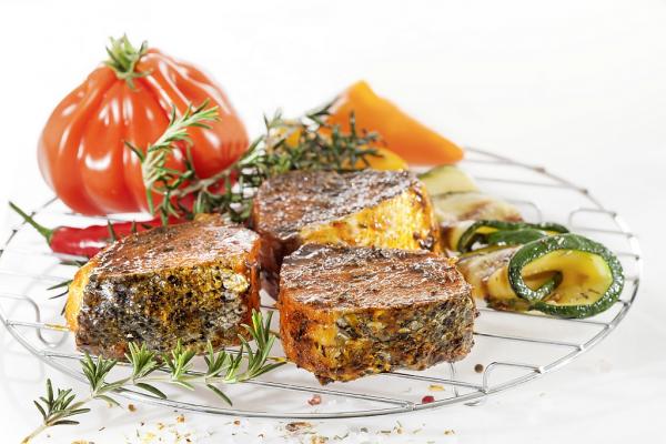 Lachs BBQ-Medaillons Provençale