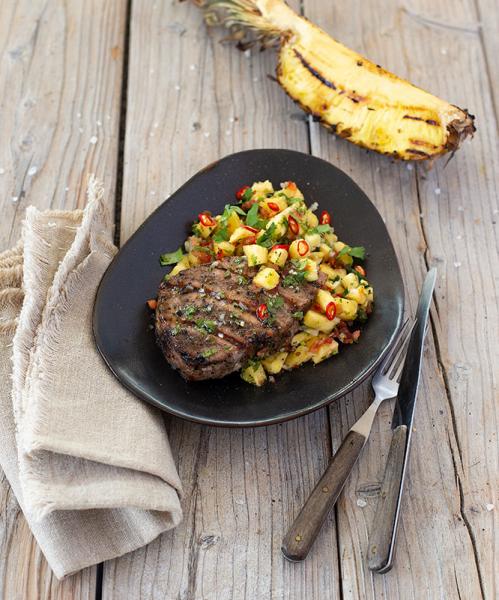 Thunfischfilet-Steaks BBQ Pfeffer, roh-mariniert, 3-5 Stück, ca. 500g