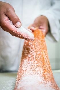 Lachs Salzen